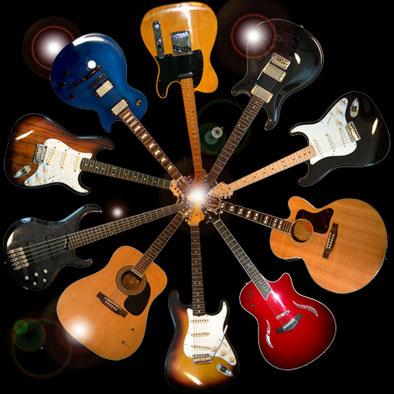 Модели гитар под стиль музыки изображение